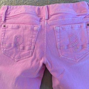 Lilly Pulitzer pink jeans size 2 like new